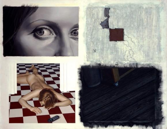 Márta Czene- What is Wrong with You? (Roman Polanski- Repulsion) (detail), 2010, acrylic, oil on fibreboard, 110 x 147 cm, Photo- Zsuzsa Berényi