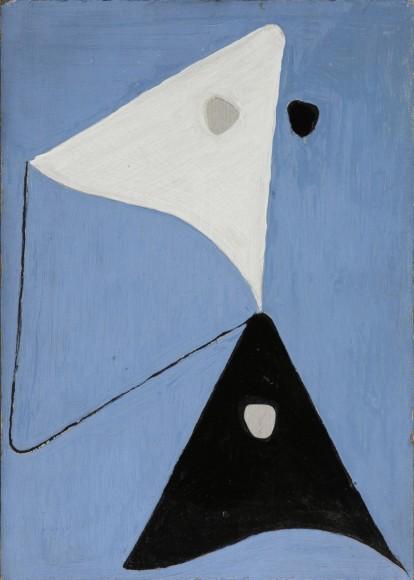 Lossonczy Tamás_Ég_1946_15 x 20 cm, olaj, vászon_Vass László Gyűjtemény