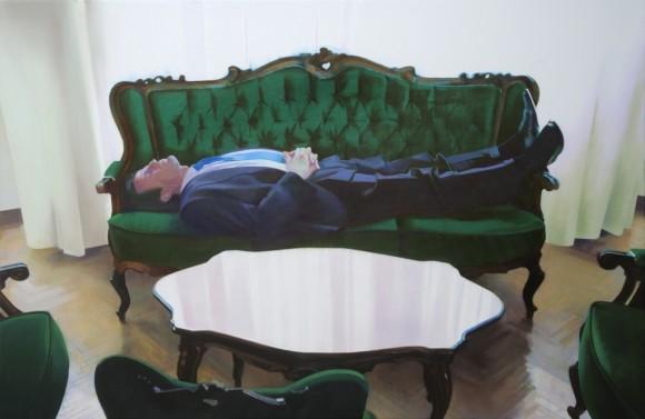Weißes Quadrat, 2009, oil on canvas